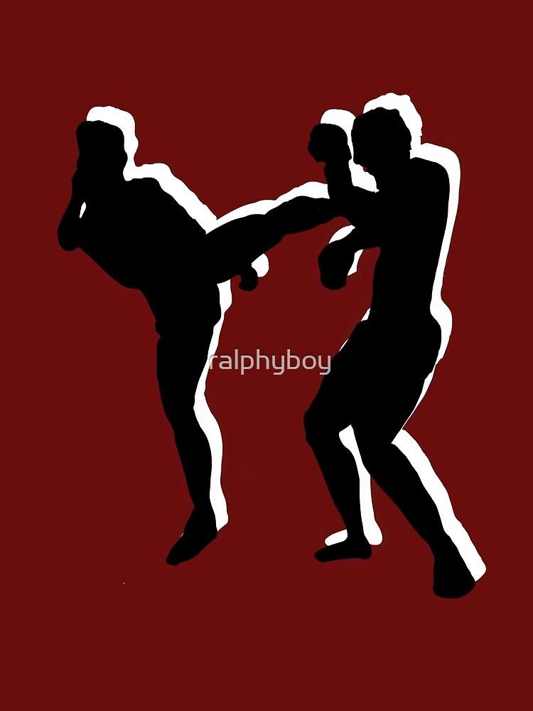 kickboxing t-shirt by ralphyboy