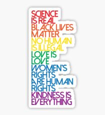 Science is Real Black Lives Matter Sticker