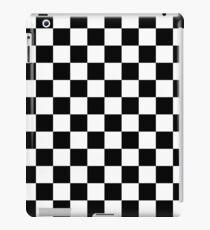 schwarz weiß kariert iPad Case/Skin
