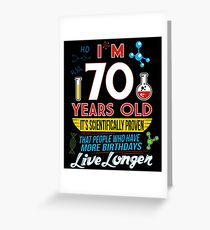 Funny 70th Birthday Science Lover Geeky Gag Gifts Greeting Card