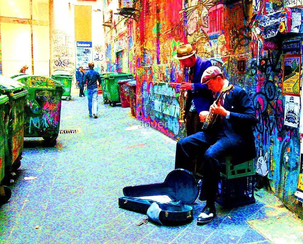 Melbourne Street Musos by Jouer