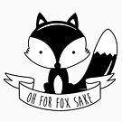 «Oh For Fox Sake - Blanco y negro» de Luke Webster