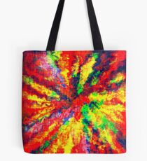 Psychedelic Art School Acrylic Paint Canvas Tote Bag