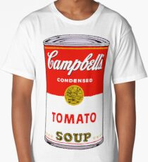 andy warhol campbell's soup can phone case Long T-Shirt