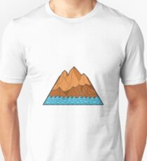 Ragged Mountain Waves Mono Line Unisex T-Shirt