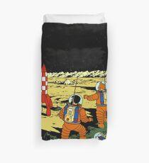 Funda nórdica Camiseta de la luna del cohete de Tintín