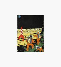 Tintin rocket moon tshirt Art Board