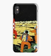 Tintin rocket moon tshirt iPhone Case/Skin