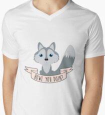 Howl you doin? Wolf Men's V-Neck T-Shirt