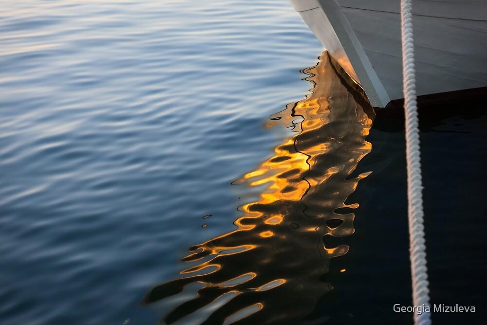 Reflecting on Yachts and Sunsets by Georgia Mizuleva