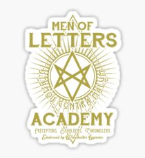 Men of Letters Academy Sticker