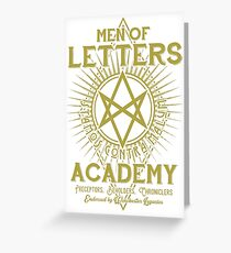 Men of Letters Academy Greeting Card