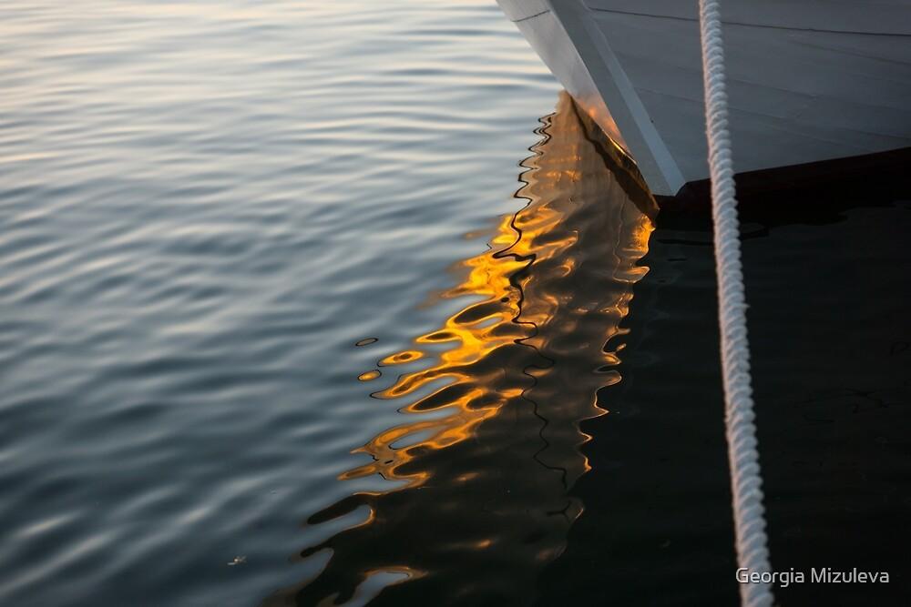 Reflecting on Boats and Sunsets by Georgia Mizuleva