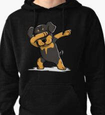 Dabbing Rottweiler Funny Pullover Hoodie