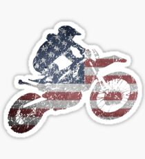 USA Motocross Supercross American Flag Dirt Bike Sticker