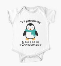IT'S PENGUIN-ING TO LOOK A LOT LIKE CHRISTMAS Kids Clothes