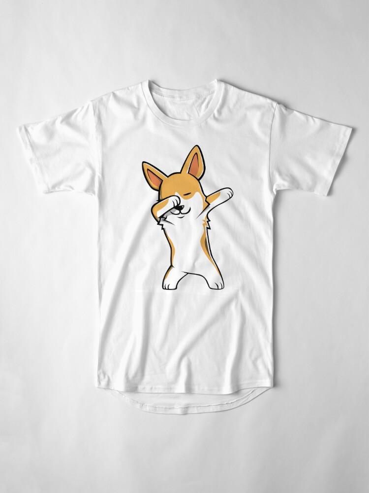 Vista alternativa de Camiseta larga Dabbing Corgi Funny