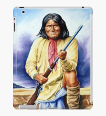 Geronimo, apache, american native indian portrait painting iPad Case/Skin