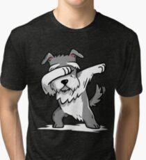 Schnauzer tupfen Lustig Vintage T-Shirt