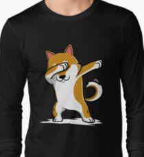 Dabbing Shiba Inu Funny Long Sleeve T-Shirt