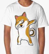 Dabbing Shiba Inu Funny Long T-Shirt