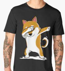 Dabbing Shiba Inu Funny Men's Premium T-Shirt
