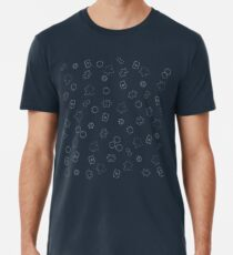 Meeple and board games pattern Men's Premium T-Shirt