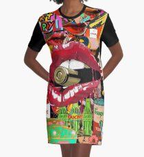 Pop-Art-Therapie T-Shirt Kleid