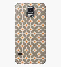 Geometric Pattern: Stylised Flower: Grey Case/Skin for Samsung Galaxy