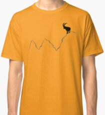 Ibex on mountain top  Classic T-Shirt