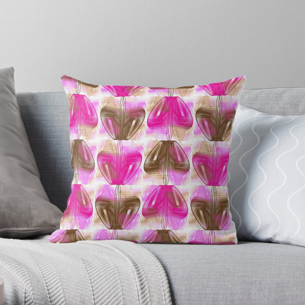 The Beaver and the Snake Throw Pillow