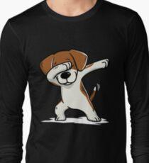Dabbing Beagle Funny Long Sleeve T-Shirt