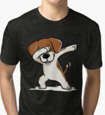 Dabbing Beagle Funny Tri-blend T-Shirt
