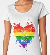 Liebe ist Liebe Premium Rundhals-Shirt