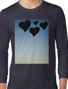 Love hearts shapes photograph romantic valentines day design Long Sleeve T-Shirt