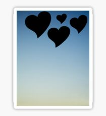 Love hearts shapes photograph romantic valentines day design Sticker