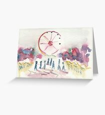 Christmas wheel Greeting Card