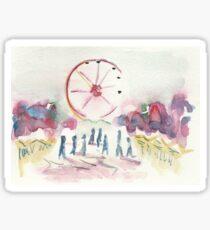 Christmas wheel Sticker