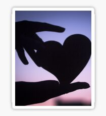Love heart shape in hands photograph romantic valentines day design Sticker