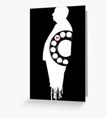 Hitchcock Dial M for Murder white Greeting Card