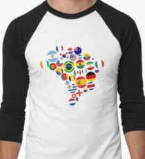 Brasil Nations Men's Baseball ¾ T-Shirt