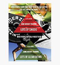 Fitness Inspirational Infographic Photographic Print