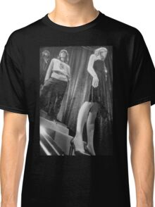Shop dummy female mannequins black and white 35mm analog film photo Classic T-Shirt