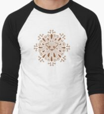 Hedgehog Paisley_Moka Baseball ¾ Sleeve T-Shirt