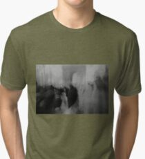 Couple kissing in street Arc de Triomphe Paris Champs Elysees Lomo LCA lomographic analog film photo Tri-blend T-Shirt