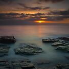 Sunset at Booby's bay Corwall  by eddiej