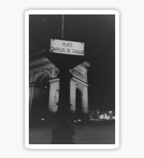 Place Charles de Gaulle Arc de Triomphe Paris Champs Elysees Lomo LCA lomographic analog film photograph 35mm Sticker