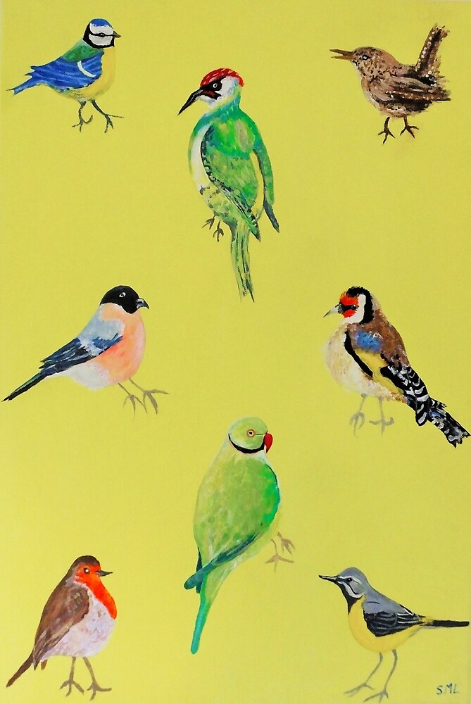 Garden Birds by ec-art