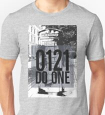 0121 Do One and image of Telephone box on gifts and t-shirts Unisex T-Shirt
