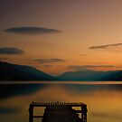 Loch Earn Sunset - Peace by Brian Canavan
